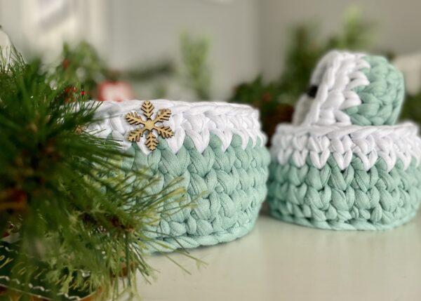 Christmas Crochet basket