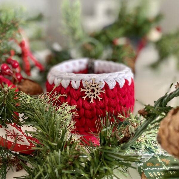 Christmas Crochet Pot Christmas Storage Basket Gift Ideas Kids Presents