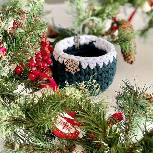 Green crochet home decor christmas
