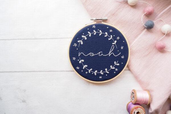 Personalised Embroidered Hoop - Thread Kind Co