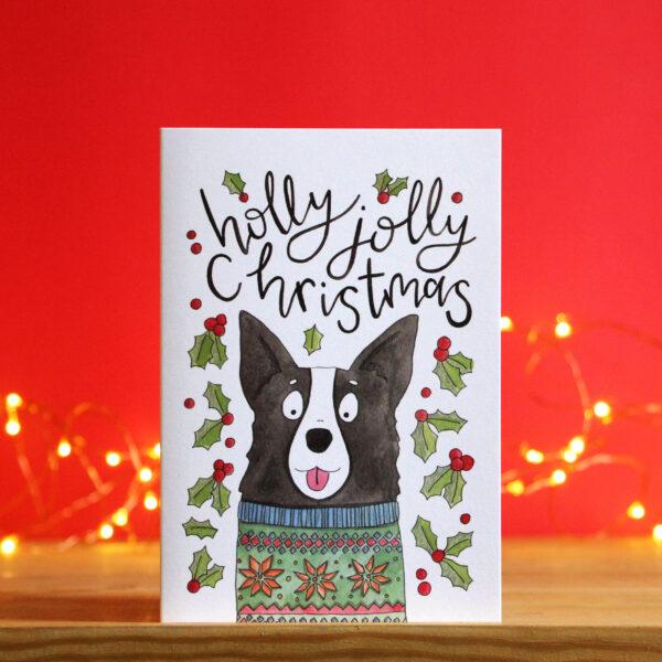 Nova & Me Collie Dog Christmas card