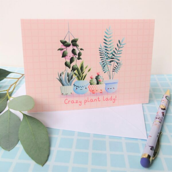 Crazy Plant Lady Greetings Card